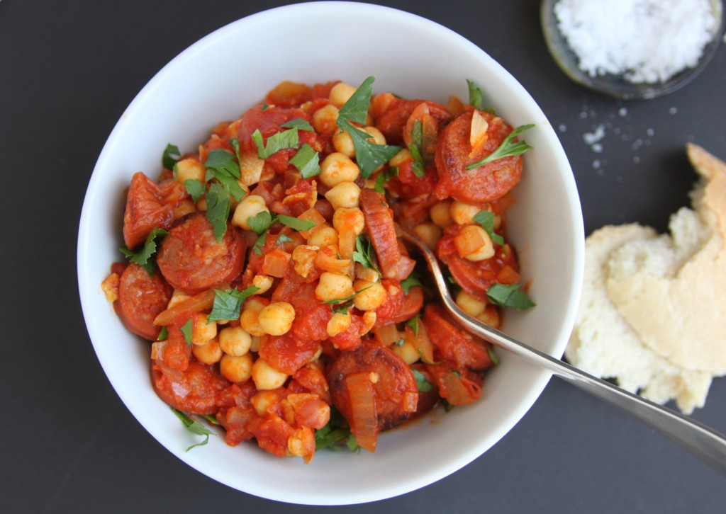 Anna May everyday chorizo and chickpea stew