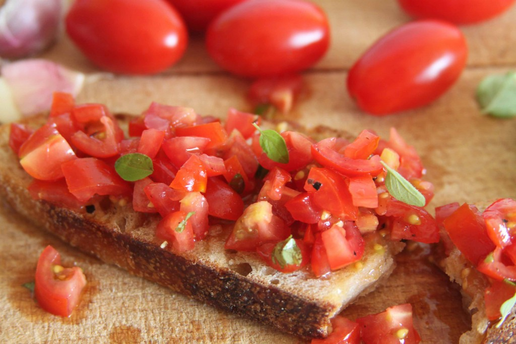 Anna May everyday Tomato bruschetta