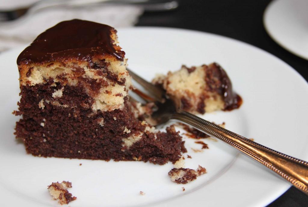 Marble cake slice 2
