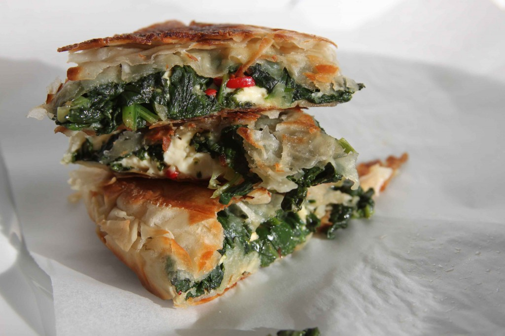Spinach and Feta Filo 4