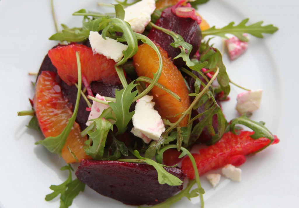 Blood orange and beetroot salad