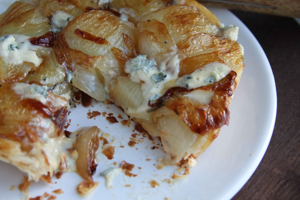 Onion and blue cheese tart 2