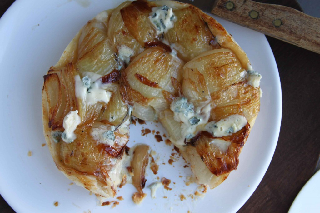 Onion and blue cheese tart 3