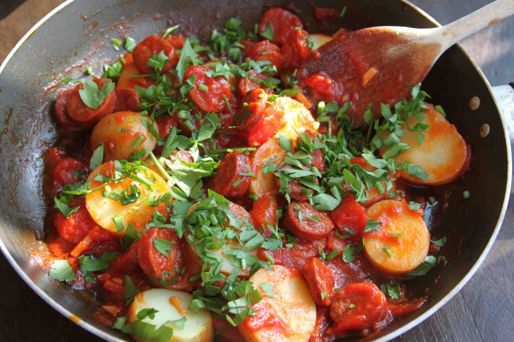 Chorizo and Potatoes 3