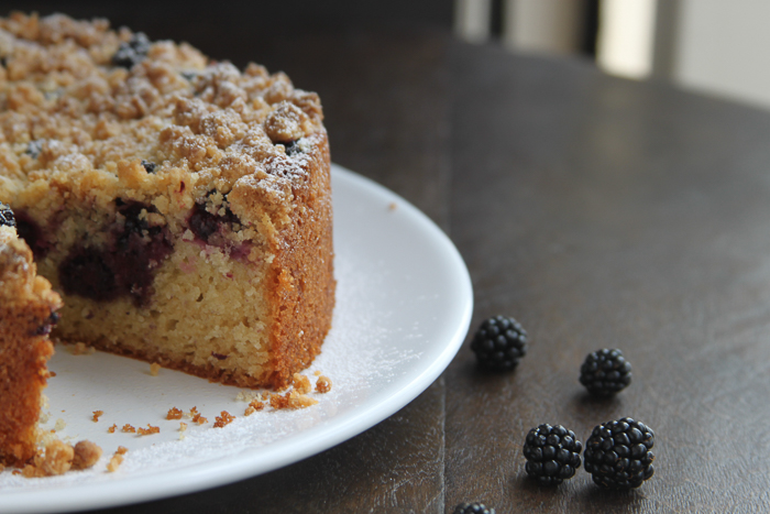 Blackberry Crumble Cake