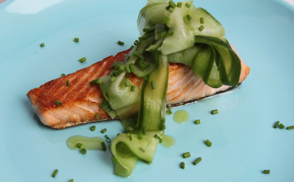 Salmon and Pickled Cucumber