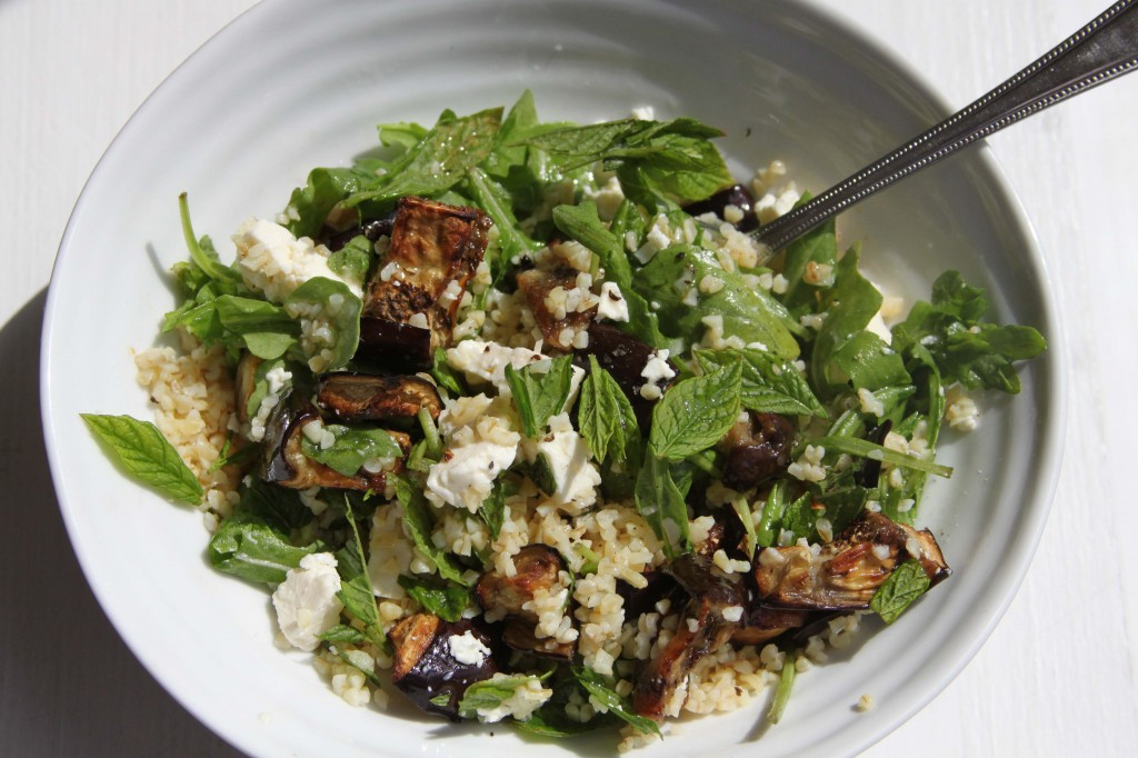 Aubergine and Feta salad 2