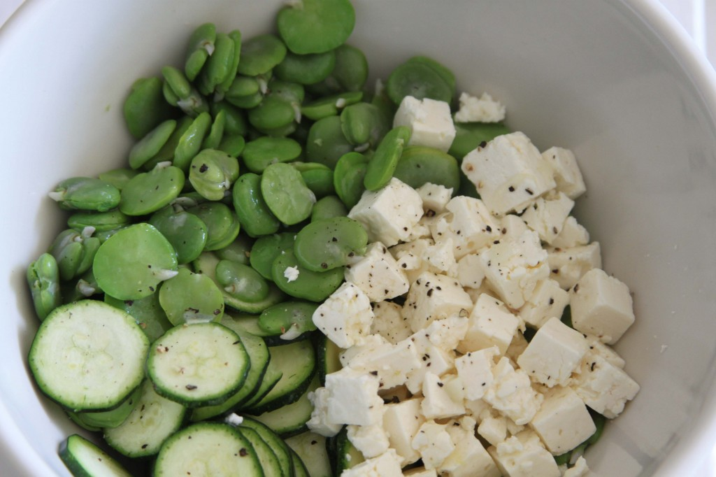 Courgette and feta salad 2