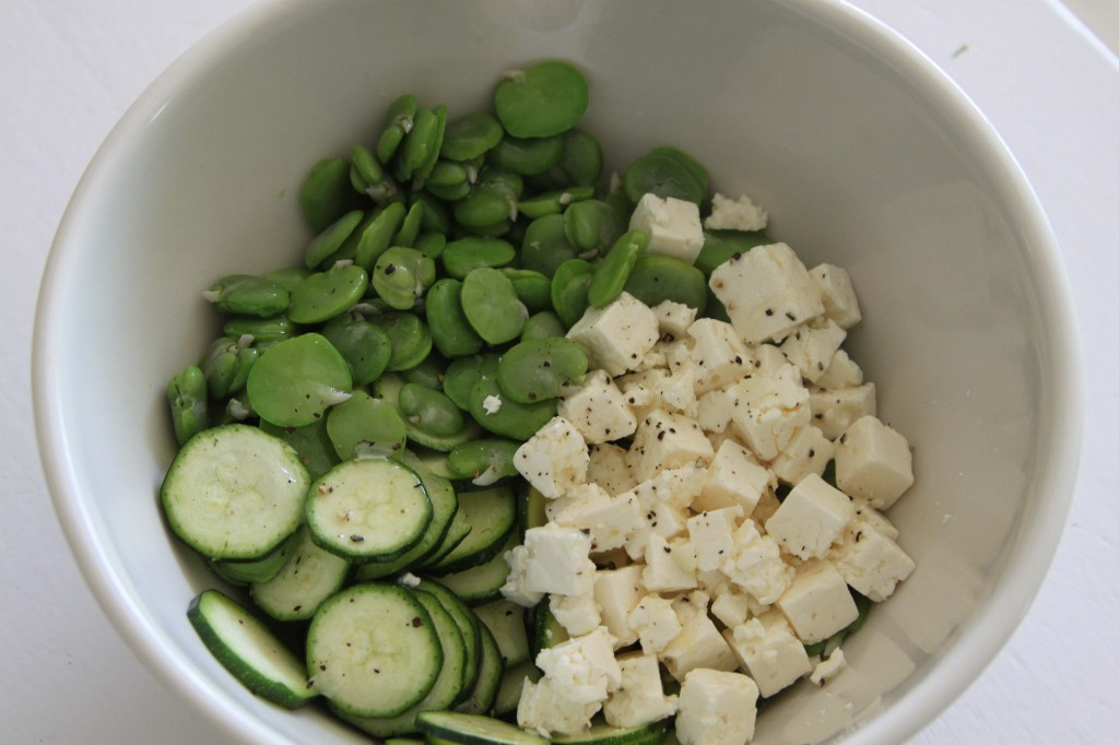 Courgette and feta salad-2