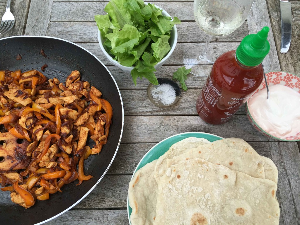 camp fajitas