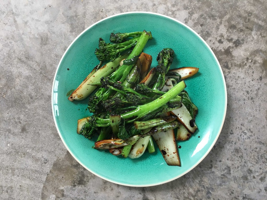 Greens with garlic and soy